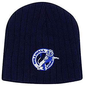 Millwall Lions Embroidered Football Beanie Hat (100% Acrylic)