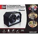 Dual Electronics SBX650BT 2 Way 6.5 inch Indoor Outdoor Bluetooth Powered Speaker with built-in Amplifier