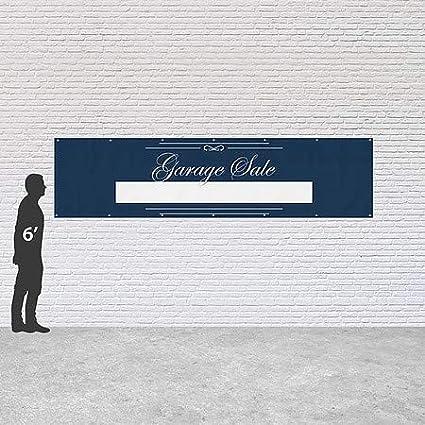 Garage Sale CGSignLab 12x3 Classic Navy Heavy-Duty Outdoor Vinyl Banner