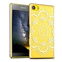 kwmobile Crystal Case for Sony Xperia Z5 Compact with Design flower mandala - transparent Protection Case Cover clear in transparent gold