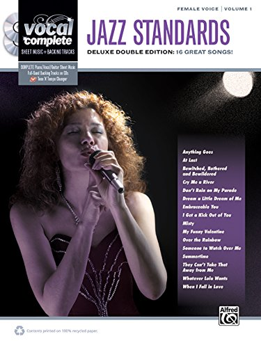 Music Sheet Vocal Jazz (Vocal Complete -- Female Voice Jazz Standards: Piano/Vocal Sheet Music with Orchestrated Backing Tracks, Book & 2 Enhanced CDs)