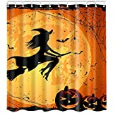 Fairylove 1PC Halloween Shower Curtain Fashion Custom Happy Waterproof  Polyester Fabric Shower Curtain