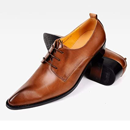 967605a4bc59a Amazon.com: Hy Men's Formal Shoes/Spring / Fall Pointed Lace Up ...