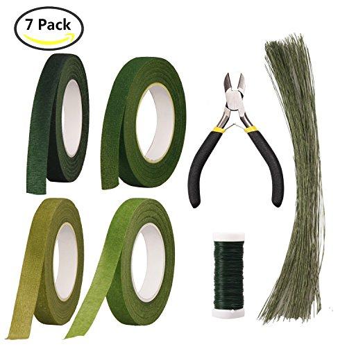 Arrangement 1 (Floral Arrangement Kit Floral Tools Wire Cutter,4 Rolls Green Floral Tape,1 Pcs Floral Tools Wire Cutter,150Pcs 30Gauge Floral Stem Wire,0.4MM Floral Stem Wire)