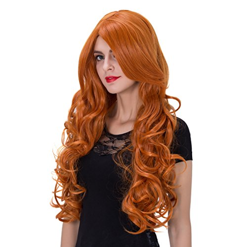 Girls Orange Braid Wig (Ecvtop Fashional COS Wig - 70cm Long Curly Hair Ombre Hair Cosplay Wig Costume Party Wigs ,Orange)