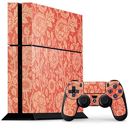 William Morris PS4 Console and Controller Bundle Skin - Pink & Rose by William Morris | The Classics X Skinit Skin