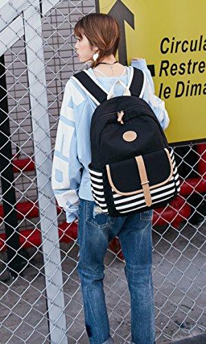 School Backpack for Girls, Gazigo Womens High School College Bookbags Laptop Bag (Black) by Gazigo (Image #9)