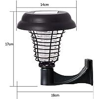 Solar Outdoor Mosquito Killer Lamp,Bug Zapper Waterproof,Flies Insect Killer Intelligent Light Control,Fly Pests Catcher Lamp,Patio Garden Villa Lawn