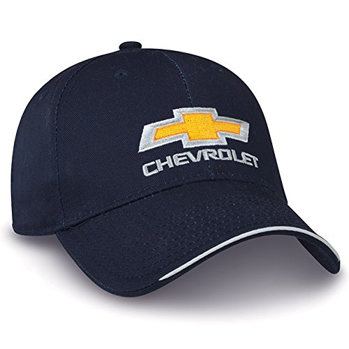 Hat Chevrolet Baseball (Chevy Bowtie Navy Blue Cotton Twill Hat)
