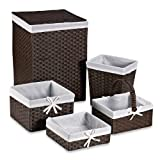 espresso basket set - Redmon 5-Piece Hamper Set with White Liners in Espresso