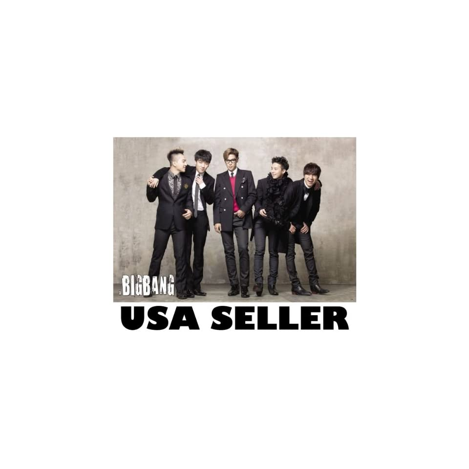 Bigbang standing & joking horiz POSTER 34 x 23.5 Top G Dragon Tae Yang Korean boy band Big Bang T.O.P. (sent from USA in PVC pipe)