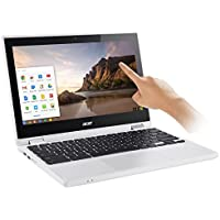 Acer - R 11 CB5-132T-C8ZW 2-in-1 11.6' Touch-Screen Chromebook - Intel Celeron - 4GB Memory - 16GB eMMC Flash Memory - White