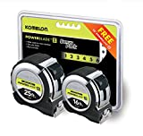 Komelon 8142516 2-pack Powerblade tapes Black 25ft &