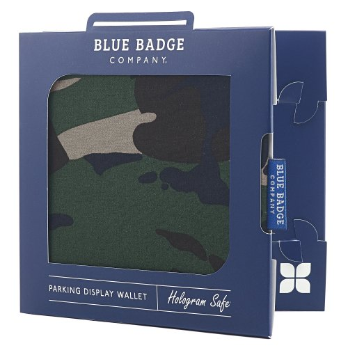 Blue Badge Company Army Camo Hologram-Safe Disabled Parking Permit Holder and Timer Wallet CMO-DGUB-602