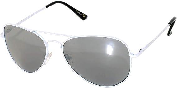 New Silver HD Aviator Colored Lens Glasses Sunglasses Metal Red Orange Mirror