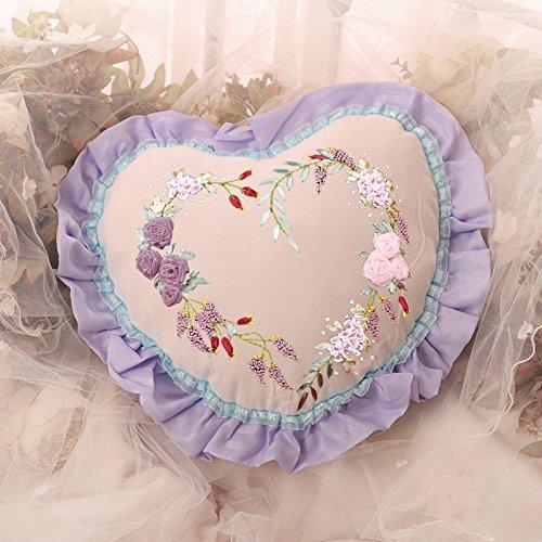 Amazon.com: Almohada con forma de corazón azul Listón de ...