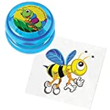AJPSales Insect Tattoos And Mini YoYo Party Pack - 12 Colorful Yo Yo's And 144 Temporary Tattoos - Great Party Favor And Parent Savior