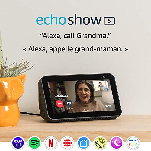 Echo Show 5 – Compact smart display with Alexa – Stay connected with video calling – Charcoal