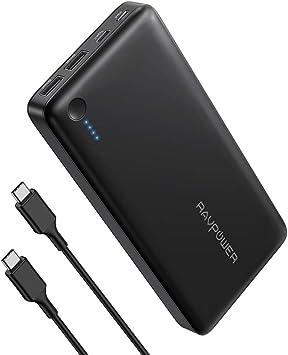 RAVPower Batería externa y cargador iSmart Quick Charge 3.0 para ...