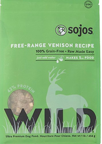 Sojos Simply Wild Freeze Dried Raw (Venison Food, 4lbs - Pack of 2) by Sojos Natural Pet Food