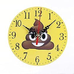 Yeefant Silent Sweep Emoji Emoticon Bell Desk Creative Travel Cute Portable Desk Creative Digital Alarm Wall Clock Cute Portable Clock Decor for Living Room Bedroom