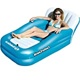 Swimline Inflatable Water Floating Cooler Couch Bed Swimming Pool Floats with Electric Pump