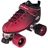 New! Riedell Dart 2 Tone Black & Red Ombre Quad Roller Speed Skate Youth & Adult Sizes! (Youth 1) (Mens 14)