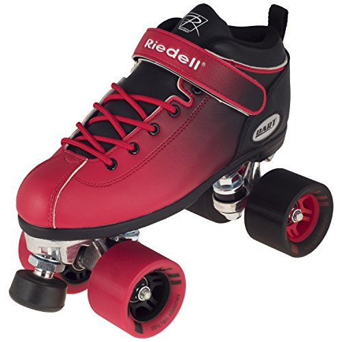 New2016!! Riedell Red and Black Dart Ombre Roller Skate for Indoor Skating Size 9