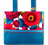 Poppy Punch Caribbean Blue - Bright Floral, Functional Walker Bag