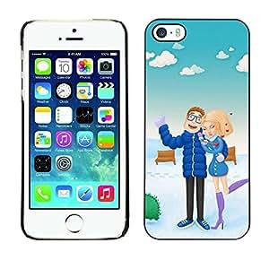 Be Good Phone Accessory // Dura Cáscara cubierta Protectora Caso Carcasa Funda de Protección para Apple Iphone 5 / 5S // Couple Holiday Sea Love Man Woman Beach