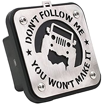 2 Metal Tow Cover Trailer Hitch Receiver Cover Accessories Series Towing