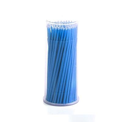 100pcs desechables Micro extensión de pestañas cepillo aplicador Stick Dental toallitas
