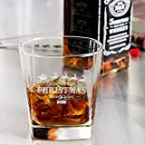 Personalized Christmas Libbey Double Rocks, Whisky Old Fashioned Glass