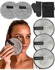 Reusable Makeup Remover Pads Set -Ogato- Eco Friendly Reusable Face Pads Suitable For All Skin- Our Reusable Makeup Pads Include a Laundry Bag & Headband- Eye Makeup Remover Pads Are Extra Large, 12cm
