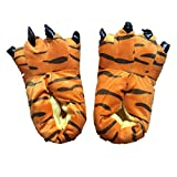 Unisex Plush Paw Claw House Slippers Animal Costume Shoes Tiger S