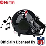 NIMA Portable Bluetooth Speaker, NFL Football Helmet Stereo Small(Entry-Level) Wireless Speaker with Built-in Mic, Hands-free Call, LOUD HD Sound and Bass – Houston Texans