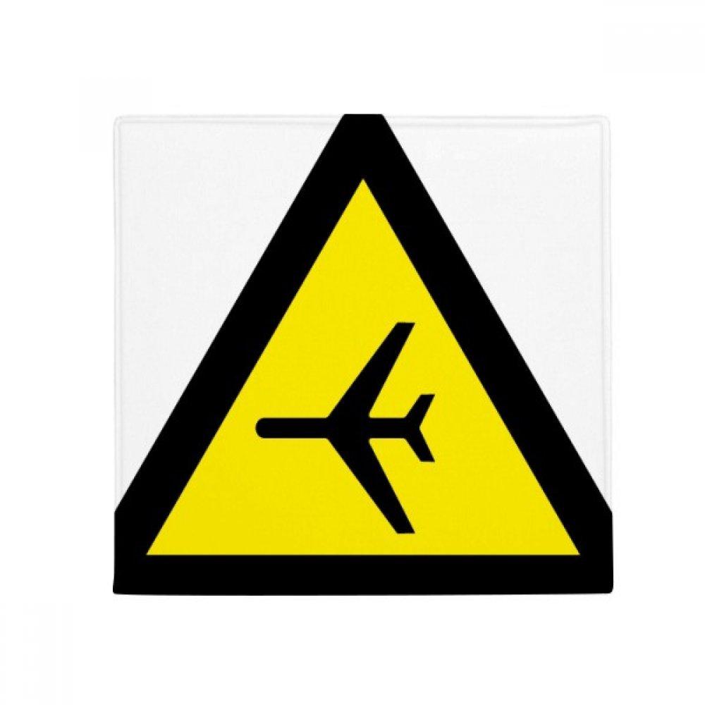 DIYthinker Warning Symbol Yellow Black Plane Triangle Anti-Slip Floor Pet Mat Square Home Kitchen Door 80Cm Gift