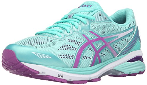 - ASICS Women's Gt-1000 5 Running Shoe, Mint/Orchid/Cockatoo, 6 D US