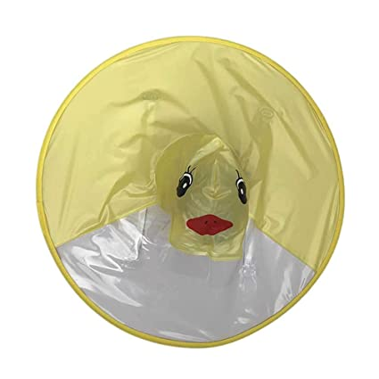 583f2727a9bc STOBOK Creative PVC Raincoat Disposable Poncho Head Umbrella Cloak ...