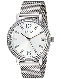 Relic Women's 'Laurie' Quartz Metal and Stainless Steel Casual Watch, Color:Silver-Toned (Model: ZR34398)