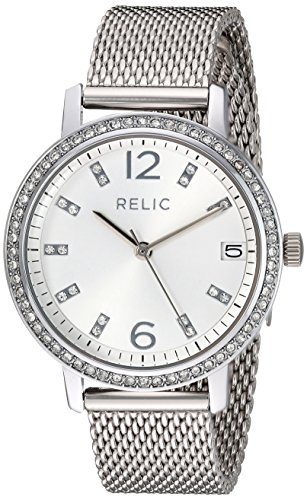 Relic Women's 'Laurie' Quartz Metal and Stainless Steel Casual Watch, Color:Silver-Toned (Model: ZR34398) (Relic Steel Mesh Watch)