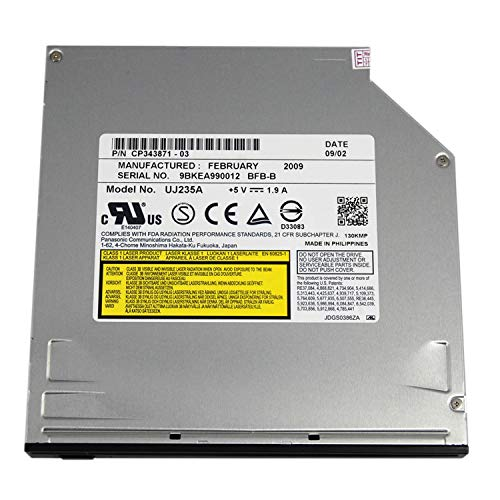 UJ-235 12.7mm SATA Slot in Blu-ray Burner Blu-ray Player blu-ray Writer use for iMac MacBook pro MacBook Air and Other laptops (Blu Ray Burner Slot Load)