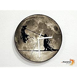 Cloud and Sephiroth - Final Fantasy - Grey Full Moon - Universe Stars Space Galaxy Solar Planet - Custom Name Wall Clock