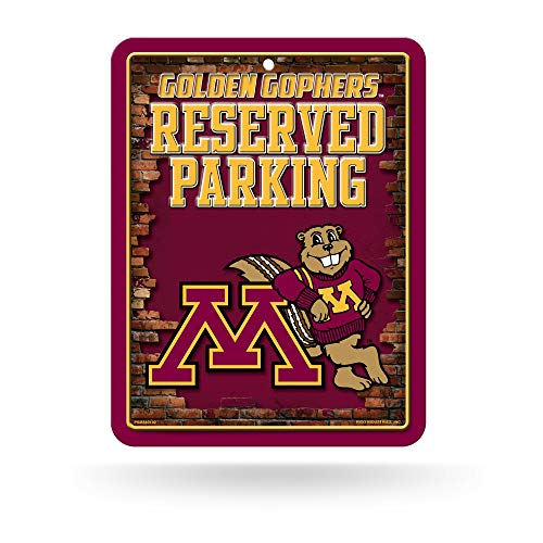 NCAA Minnesota Golden Gophers 8-Inch by 11-Inch Metal Parking Sign Décor ()
