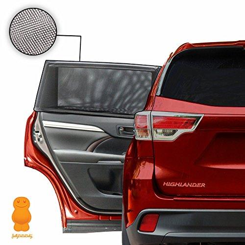 Jellybabababy fenêtre de voiture Soleil Nuances–Bloque les rayons UV, universel facile à installer (lot de 2)