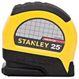 Stanley STHT30825 Lever Lock Tape Rule, 25-Foot