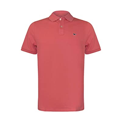 Vineyard Vines Men's Stretch Pique Solid Polo (X-Large, Sailor's Red) at Men's Clothing store