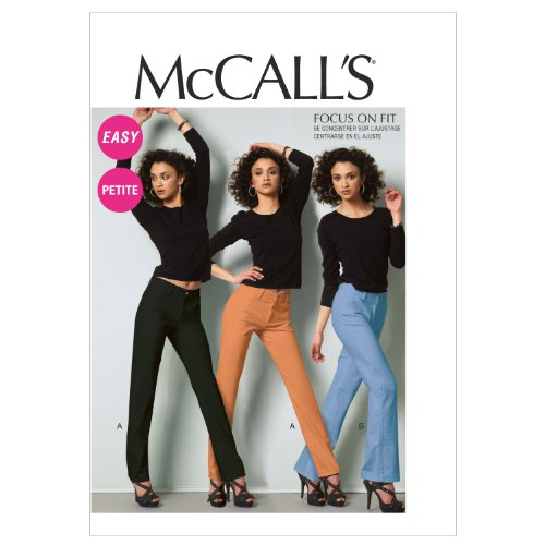 - McCall Patterns M6610A50 Misses'/Miss Petite Jeans Sewing Pattern, Size A5 (6-8-10-12-14)