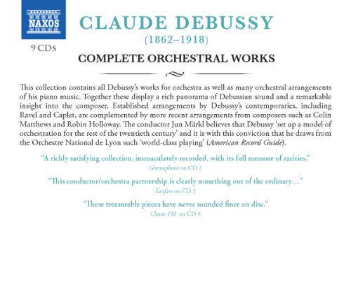 Debussy: Complete Orchestral Works by Naxos Box Sets