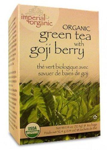 Uncle Lee's Imperial Organic Tea - Green Goji Berry, 18-Count (Pack of 4) by Uncle Lee's Tea (Imperial Organic Green Tea With Goji Berry)